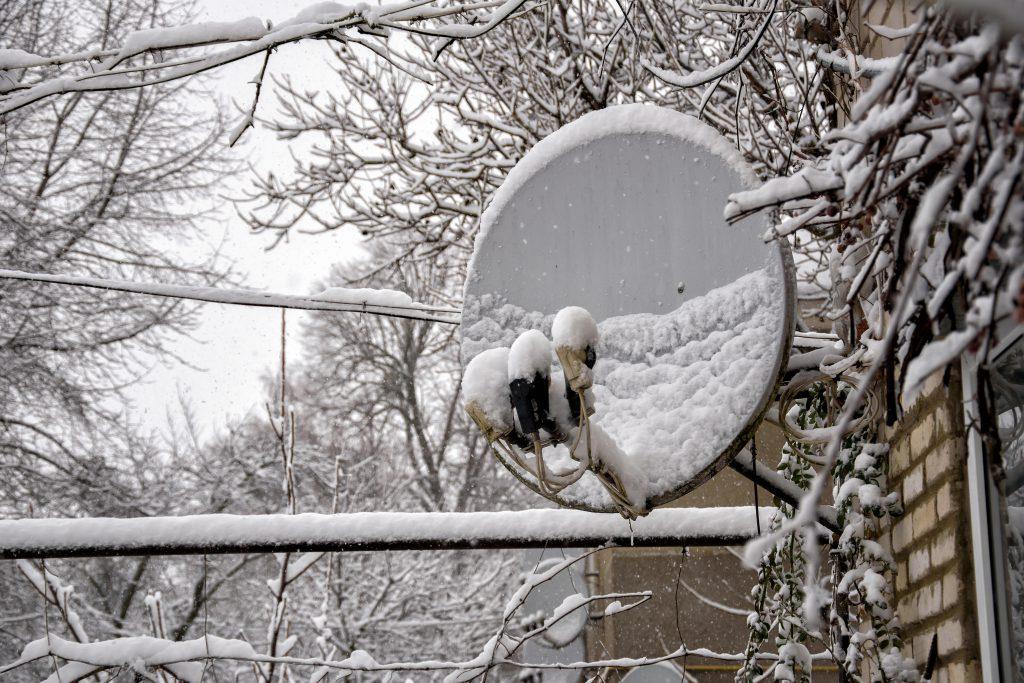 Regen Satellit