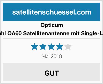 Opticum Stahl QA60 Satellitenantenne mit Single-LNB Test