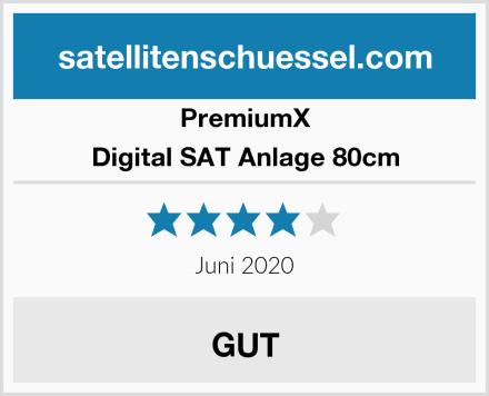 PremiumX Digital SAT Anlage 80cm Test
