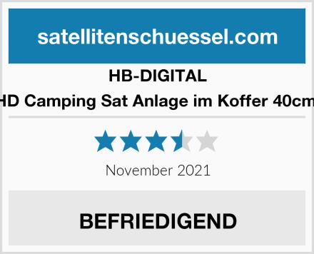 HB-DIGITAL HD Camping Sat Anlage im Koffer 40cm  Test