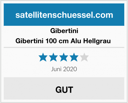 Gibertini Gibertini 100 cm Alu Hellgrau  Test