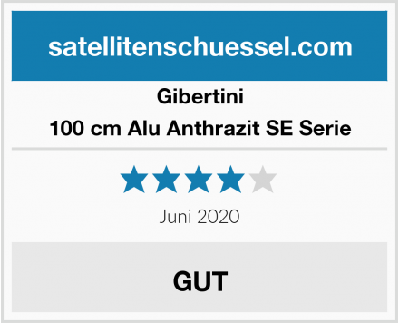 Gibertini 100 cm Alu Anthrazit SE Serie Test