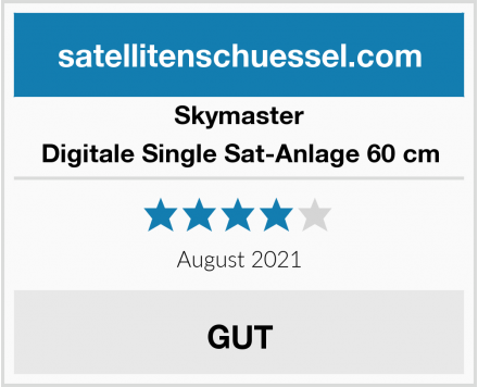 Skymaster Digitale Single Sat-Anlage 60 cm Test