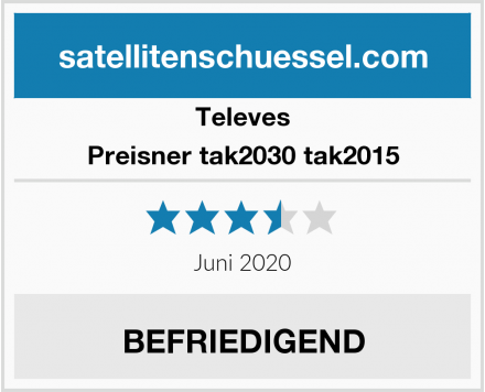 Televes Preisner tak2030 tak2015 Test