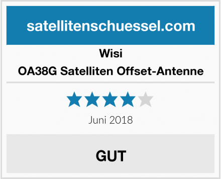 Wisi OA38G Satelliten Offset-Antenne Test