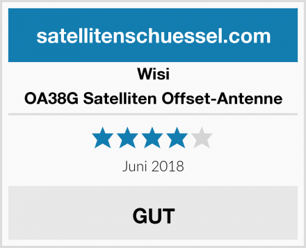 Wisi OA38G Satelliten Offset-Antenne Test