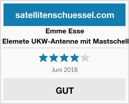 Emme Esse 2 Elemete UKW-Antenne mit Mastschelle Test
