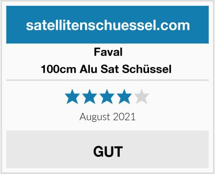 Faval 100cm Alu Sat Schüssel  Test