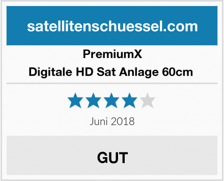 PremiumX Digitale HD Sat Anlage 60cm  Test