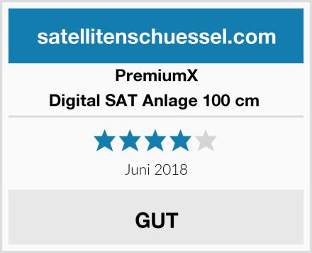 PremiumX Digital SAT Anlage 100 cm  Test