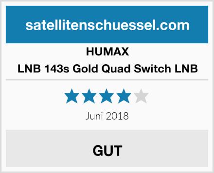 HUMAX LNB 143s Gold Quad Switch LNB Test