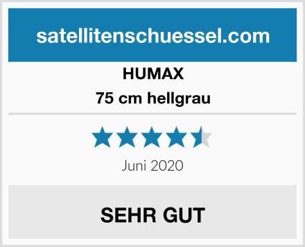 HUMAX 75 cm hellgrau Test