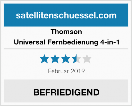 Thomson Universal Fernbedienung 4-in-1 Test