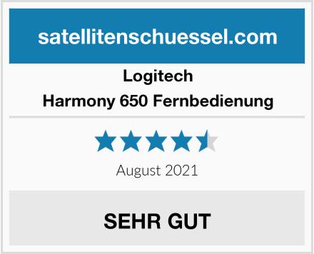Logitech Harmony 650 Fernbedienung Test