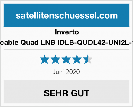 Inverto Unicable Quad LNB IDLB-QUDL42-UNI2L-1PP Test