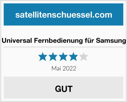 Universal Fernbedienung für Samsung Test