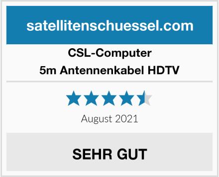 CSL Computer 5m Antennenkabel HDTV Test