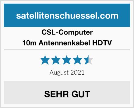 CSL Computer 10m Antennenkabel HDTV Test