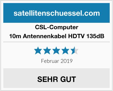 CSL Computer 10m Antennenkabel HDTV 135dB Test