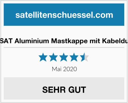 No Name PremiumX SAT Aluminium Mastkappe mit Kabeldurchführung Test