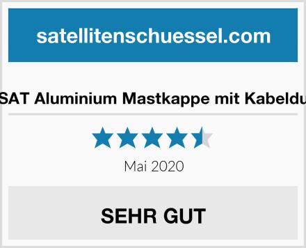 PremiumX SAT Aluminium Mastkappe mit Kabeldurchführung Test