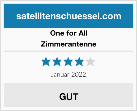 One for All Zimmerantenne Test
