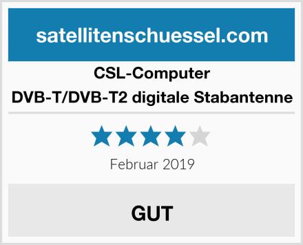 CSL Computer DVB-T/DVB-T2 digitale Stabantenne Test