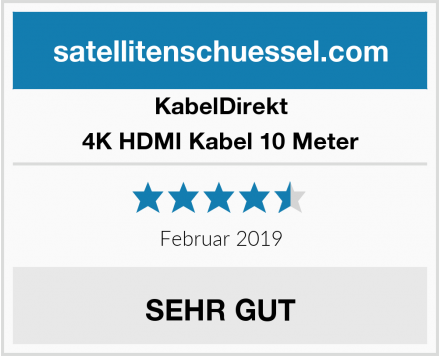 KabelDirekt 4K HDMI Kabel 10 Meter Test