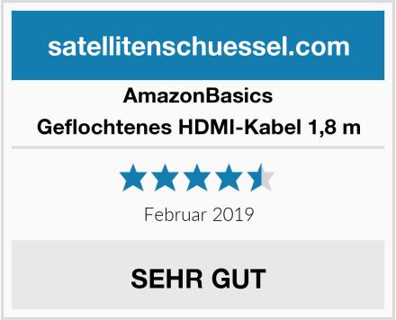 AmazonBasics Geflochtenes HDMI-Kabel 1,8 m Test