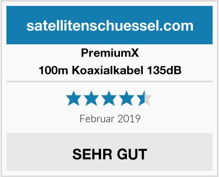 PremiumX 100m Koaxialkabel 135dB Test