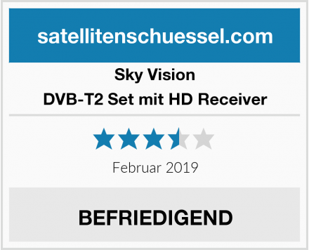 Sky Vision DVB-T2 Set mit HD Receiver Test