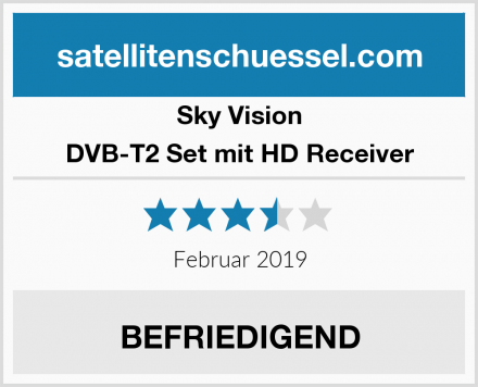 Sky Vision DVB-T2 Set mit HD Receiver Test