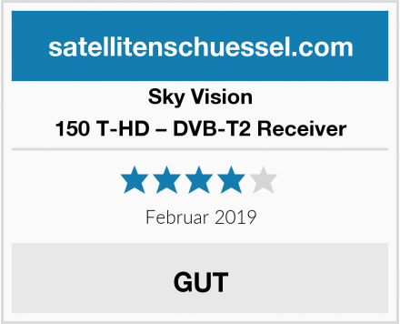 Sky Vision 150 T-HD – DVB-T2 Receiver Test
