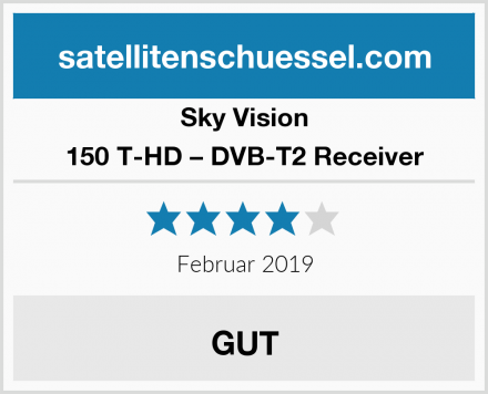 Sky Vision 150 T-HD – DVB-T2 Receiver Test