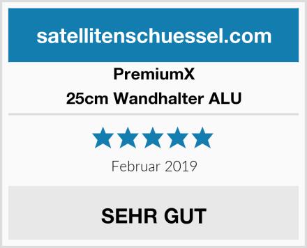PremiumX 25cm Wandhalter ALU Test