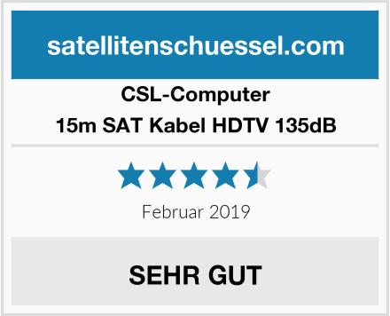 CSL Computer 15m SAT Kabel HDTV 135dB Test