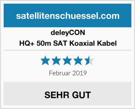 deleyCON HQ+ 50m SAT Koaxial Kabel Test