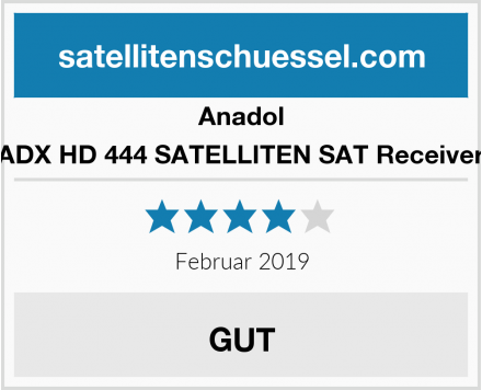 Anadol ADX HD 444 SATELLITEN SAT Receiver Test