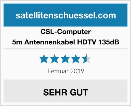 CSL Computer 5m Antennenkabel HDTV 135dB Test