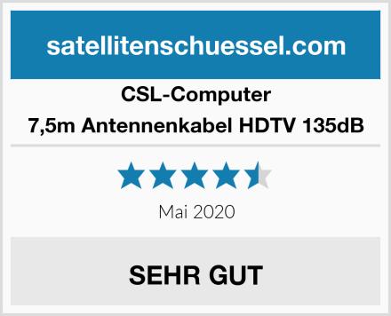 CSL Computer 7,5m Antennenkabel HDTV 135dB Test
