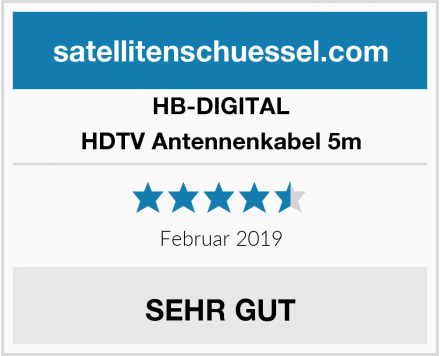 HB-DIGITAL HDTV Antennenkabel 5m Test