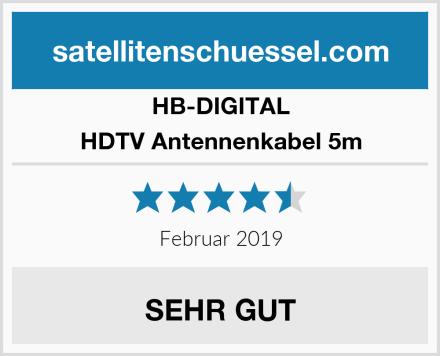 HB-DIGITAL HDTV Antennenkabel 5m Test