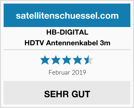 HB-DIGITAL HDTV Antennenkabel 3m Test