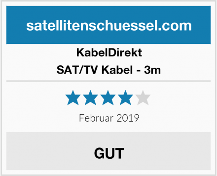 KabelDirekt SAT/TV Kabel - 3m Test