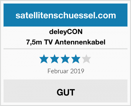 deleyCON 7,5m TV Antennenkabel Test