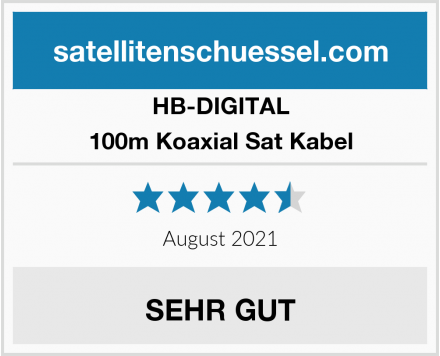 HB-DIGITAL 100m Koaxial Sat Kabel Test