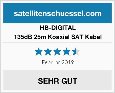 HB-DIGITAL 135dB 25m Koaxial SAT Kabel Test