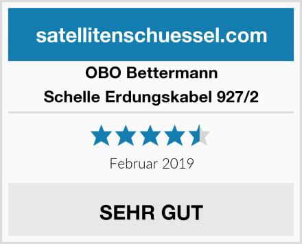 Obo-Bettermann Schelle Erdungskabel 927/2 Test