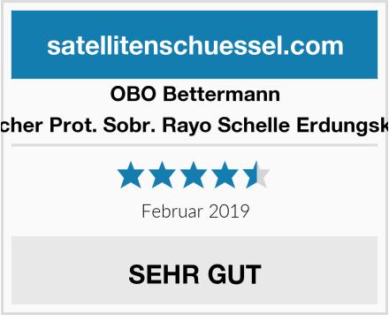 Obo-Bettermann Automatischer Prot. Sobr. Rayo Schelle Erdungskabel 927/0 Test