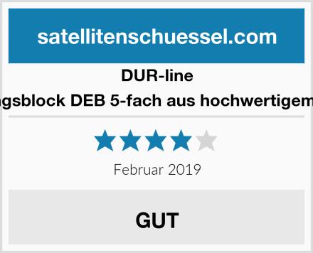 DUR-line Erdungsblock DEB 5-fach aus hochwertigem Guss Test